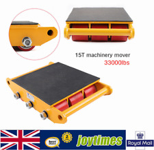 More details for 15t machinery mover rolling skate heavy equipment cast steel + pu durable new