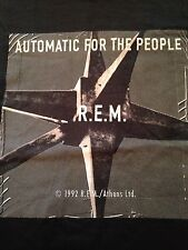 MINT Vintage R.E.M AUTOMATIC FOR THE PEOPLE 90's Band Shirt Stipe DEADSTOCK