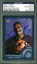 Nuggets Nene Hilario Authentic Signed Card 2002 Topps #191 PSA/DNA Slabbed