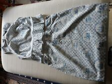 FAB WOMENS RECLAIMED VINTAGE BY ASOS BLUE AND WHITE COTTON SKIRT AND TOP  UK8/10