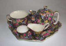Royal Winton Grimwades 1930's 'Hazel' Chintz Pattern Breakfast Tea Set.