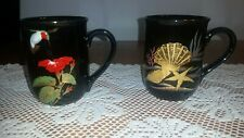 Vintage Otagiri Hummingbird and Seashell Mugs (2) made in Japan Gibson Greetings