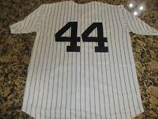 New!!REGGIE JACKSON #44 New York Yankees White Pinstripe Baseball JerseyM 40