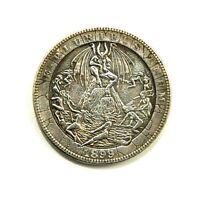 HOBO - NICKELS SOUVENIR DOLLAR 1899 / USA / EXONUMIA SILVERED COIN - TOKEN