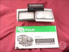 4451-Fuji GX680 Film Camera Opuscolo, batteria e schermi di vetro smerigliato