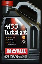 5 Liter MOTUL 4100 Turbolight 10W40 Motoröl VW 501 01 505 00 MB 229.1 Renault