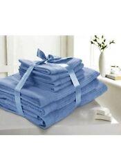 7Pcs Bale Pack 100% Egyptian Cotton 500gsm Towels- 4 Face, 2 Hand & 1 Bath Towel
