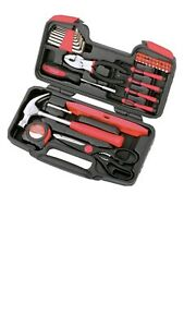 Apollo 39 Pc Household Non Powered Hand Tool Set Red
