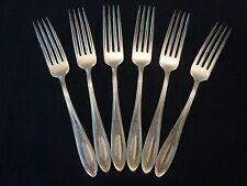 Set 6 Dinner Forks! Vintage Oneida Community silverplate: Ardsley pattern Lovely