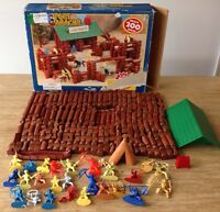 Timberlogs Fort Apache Building Set 200 Pieces Wood Logs Busy Kids Figures Toy