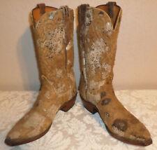 Men's 11-D Lucchese 1883 Rough Suede Unique Cowboy Boots EUC