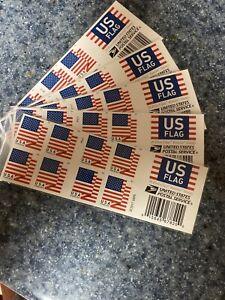 Five Booklets x 20 = 100  2018 US FLAG USPS Forever Postage Stamps