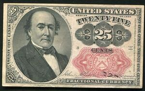 25 TWENTY FIVE CENTS FIFTH ISSUE FRACTIONAL CURRENCY NOTE XF/AU