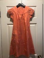 Calypso St. Barth Melon Orange Silk Dress XS