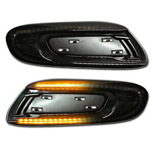 SCHWARZE dynamische LED Seitenblinker Mini Cooper F55 F56 F57 S SD Cabrio JCW