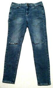 Women's American Eagle Jeans Size 10 Super Stretch Hi Rise Jegging Distressed