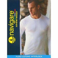 Navigare maglia uomo manica lunga girocollo in cotone interlock felpato art 113