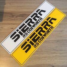 3 puertas Zafiro Par De Ford Sierra Cosworth concesionario estilo Mostrar Placas RS500