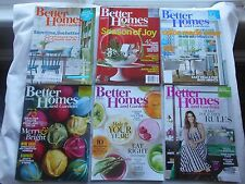 6 x BETTER HOMES AND GARDENS MAGAZINE LOT---MAY,2014--FEB,2016