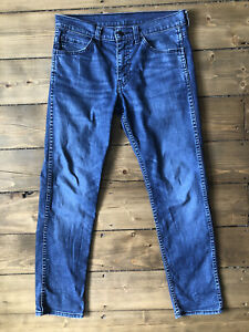 Levi's Strauss 511 Mens STRETCH Jeans W30 L29 Faded Blue Slim Straight