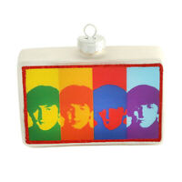 """Andy Warhol/'s The Beatles 2/"""" Round Glass Christmas Ornament"""