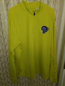 Los Angeles Rams Jacket XL Yellow 2012 season sweatshirt windbreaker