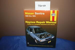 Haynes REPAIR MANUAL covers NISSAN SENTRA  1982-1994  (72050)