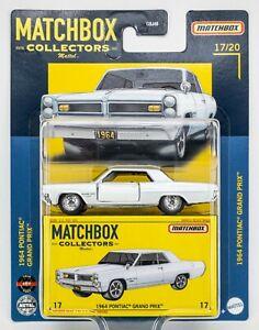 2021 Matchbox Superfast #17 1964 Pontiac® Grand Prix™ CAMEO IVORY / MOC