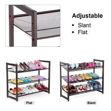 3-Tier Stackable Metal Shoe Rack Adjustable Organizer Shelf Closet Entryway