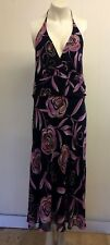 Gorgeous Black & Pink Floral Backless Dress from Dress Barn - Size 16 - Fab!