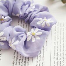 Purple scrunchies fabric hair ties