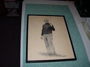 JACK NICKLAUS PGA Print  Landsman 11 x 14 GOLF Art Sketch, SIGNED and Framed