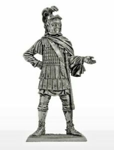 "1/30 Roman Cavalry Officer 2nd AD Tin Metal Soldier 65 mm / 2,5"" Figure Handmade"