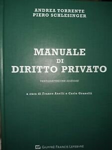 manuale di diritto privato torrente