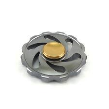 "Stainless Metal ""Hot Wheel"" Hand Spinner Fidget ADHD EDC Finger Toy Gyro-Black"