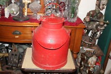 Large Antique Dairy Milk Can Carrier With Handle-Country Decor-Red Color