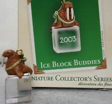 Hallmark Ice Block Buddies 2003 Miniature series ornament 4th Walrus New in Box