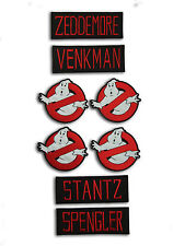 Ghostbusters Costume Accurate Name and Logo Patch Set Embroidered Patch Badge
