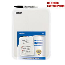 Dry Erase White Board Pad w/Dry Erase Marker Notice Message Board Wall Mountable