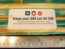 "NOS 1968 1969 1970 1972 ""GM"" Air Cleaner Decal Sticker CAMARO Chevelle CORVETTE"