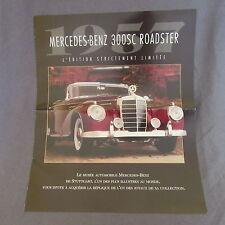 230C Dépliant 4 Pages Mercedes 300 SC Roadster