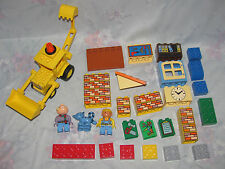 Lego Duplo Bob The Builder Lot - Bob, Spud, Pilchard, Scoop, Accessory Bricks