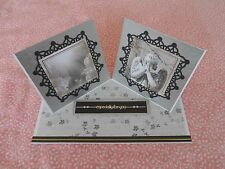 HANDMADE DOUBLE TWISTED EASEL SYMPATHY CARD - HEAVEN AND STONE ANGEL