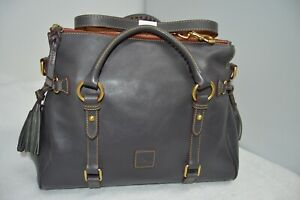 Dooney & Bourke SLATE Florentine Leather Satchel