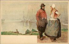 Holland Native Dutch People H. Cassiers c1900 Postcard MARKEN