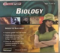 SpeedStudy Biology Pc Brand New Win10 8 7 XP