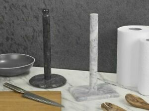 Paper Towel Holder Marble Kitchen Roll Stand Freestanding Kitchen Pole NEW