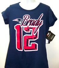 Women's Large Tom Brady New England Patriots G-III For Her Navy Player T-Shirt