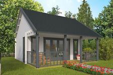 44mm Gartenhaus ISO-Glas + Terrasse 550x600cm Blockhaus Holzhaus Gerätehaus Holz