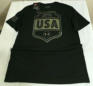 $25 Under Armour 1352153-001 Men's UA Freedom USA Emblem T-Shirt, Large, NWT